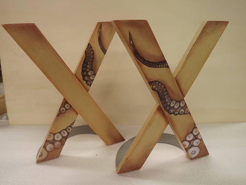 Sujetalibros de madera