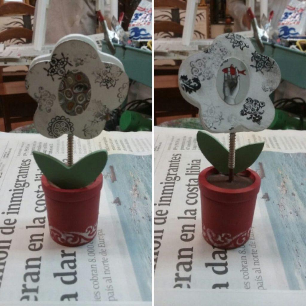 Pinza en forma de flor